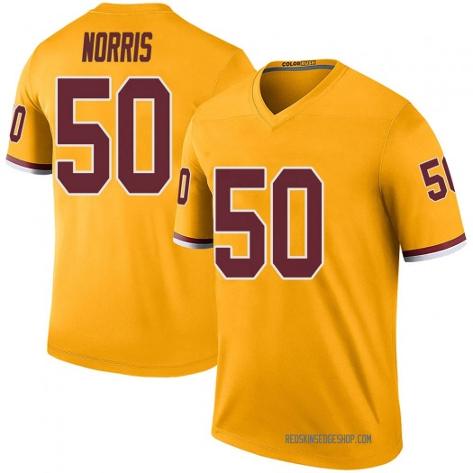 Nike Jared Norris Washington Redskins Legend Gold Color Rush Jersey - Youth