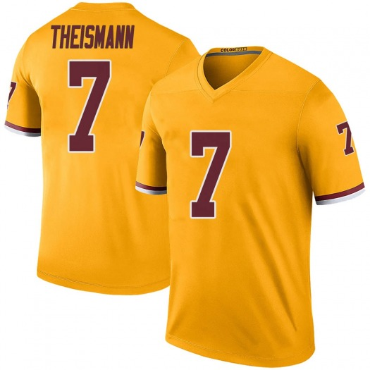 Nike Joe Theismann Washington Redskins Legend Gold Color Rush Jersey - Men's