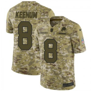 best service 23679 9eef6 Nike Case Keenum Washington Redskins Limited Camo 2018 Salute...