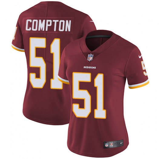 Nike Will Compton Washington Redskins Elite Red Burgundy Team Color Jersey - Women's